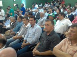 Gilso Paz e Geder Follmer participaram da abertura da 18ª Expodireto Cotrijal
