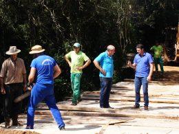 Prefeito Gilso Paz visita obras de recuperação de estradas