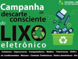 Secretaria de Agricultura e Meio Ambiente está recolhendo lixo eletrônico