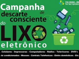 Secretaria de Agricultura e Meio Ambiente realiza campanha de recolhimento de lixo eletrônico