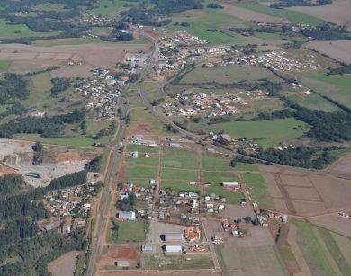 Imagem Aérea do perímetro urbano de Tio Hugo