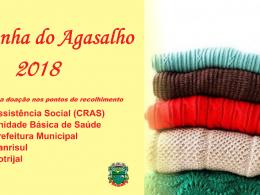 Assistência Social está recolhendo peças para a Campanha do Agasalho 2018