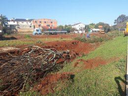 Município inicia instalação de drenagem em área as margens da RS 223