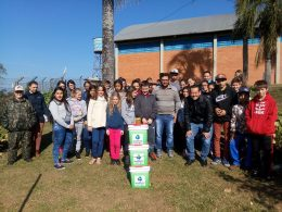 Educação ambiental é temática de projeto realizado nas escolas Antonio Parreiras e Laurentino Machado de Tio Hugo