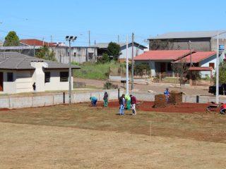 Administração Municipal investe na construção de um novo espaço para prática esportiva