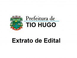 EXTRATO DE EDITAL DE CONTRATO TEMPORÁRIO Nº 021/2019
