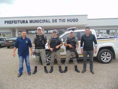 Brigada Militar apresenta camionete que atuará na Patrulha Comunitária Rural