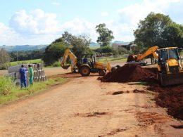 Trabalhos intensificados na instalação de drenagem