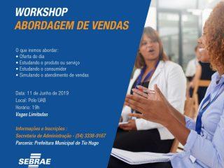 Inscrições abertas! Workshop sobre Abordagem de Vendas acontece no dia 11 de junho
