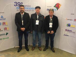 Gilso Paz participa do 39º Congresso de Municípios do Rio Grande do Sul
