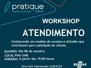 """Inscrições abertas para o Workshop """"Atendimento"""""""