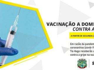 Secretaria de Saúde realizará a vacinação a domicílio