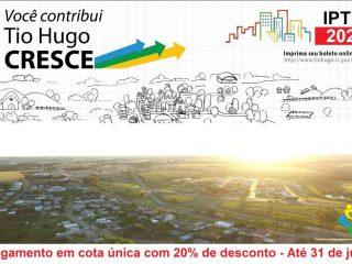 Governo Municipal estende prazo para pagamento do IPTU 2020
