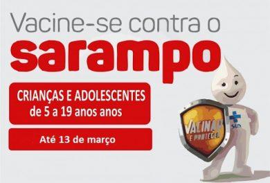 Crianças e jovens de 5 a 19 anos deverão ser vacinados contra o sarampo até o dia 13 de março