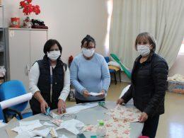 Assistência Social: Produção de máscaras e aventais