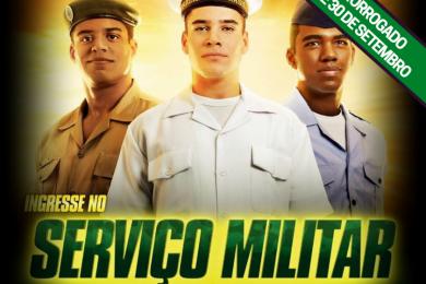 Serviço Militar: Prorrogado o prazo para alistamento