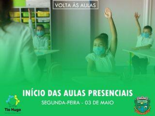 Aulas presenciais na rede municipal de ensino serão iniciadas na segunda-feira 03 de maio