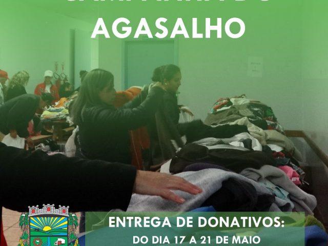 CAMPANHA DO AGASALHO: Entrega de donativos será realizada do dia 17 ao dia 21 de maio na sede do Cras Mãos Amigas