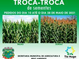 Troca-Troca de Sementes: Produtores deverão realizar o pedido de sementes de milho e sorgo até o dia 28 de maio