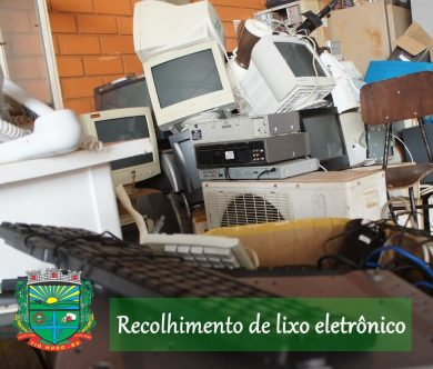 Campanha de Recolhimento de Lixo Eletrônico: Materiais poderão ser descartados até o dia 30 de junho