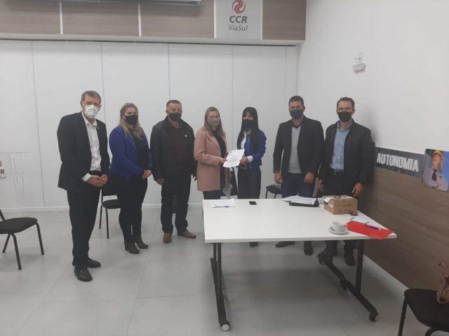 Tio-huguenses participam de reunião na sede da CCR – Via Sul em Porto Alegre