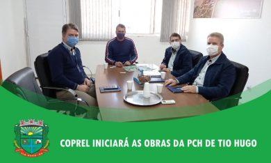 Em reunião com o prefeito representantes da Coprel anunciam início das obras de construção da PCH de Tio Hugo