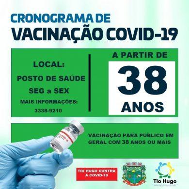Tio Hugo está vacinando pessoas com idade a partir de 38 anos