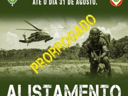 Alistamento Militar prorrogado até 31 de agosto