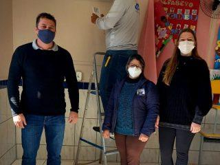 Mais conforto: Todas as salas de aula de Tio Hugo possuem ar condicionado