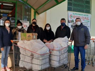 Secretaria de Assistência Social recebe alimentos arrecadados pela Cotrijal