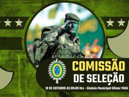 Jovens alistados no Serviço Militar em 2021 deverão comparecer a Comissão de Seleção